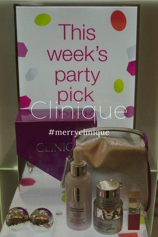 Clinique #merryclinique