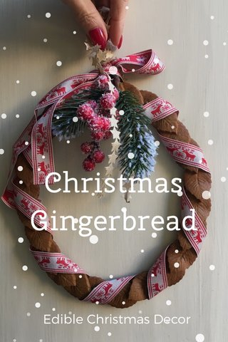Christmas Gingerbread Edible Christmas Decor