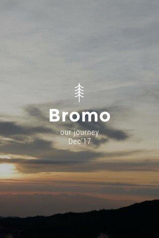 Bromo our journey Dec'17