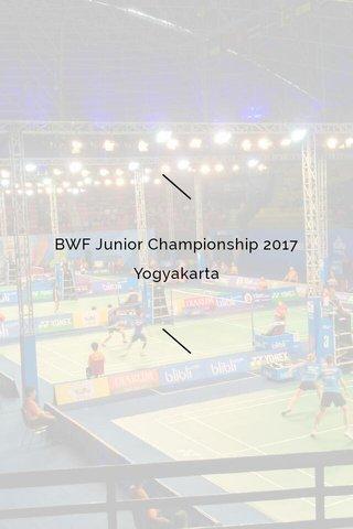 BWF Junior Championship 2017 Yogyakarta