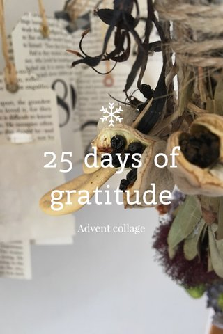 25 days of gratitude Advent collage
