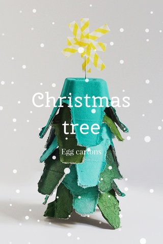 Christmas tree Egg cartons