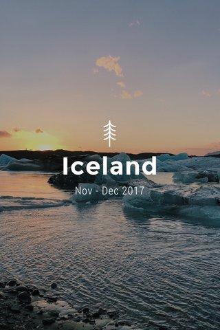 Iceland Nov - Dec 2017
