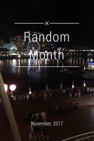 Random Month November, 2017