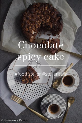 Chocolate spicy cake #food steller #stelleritalia
