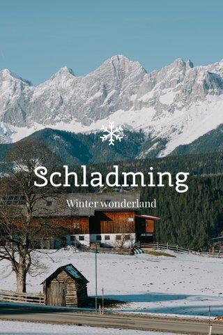 Schladming Winter wonderland