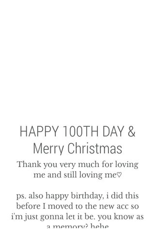 HAPPY 100TH DAY & Merry Christmas