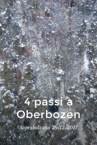 4 passi a Oberbozen Soprabolzano 29/12/2017
