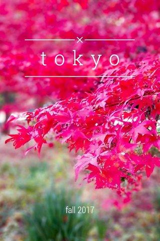 tokyo fall 2017