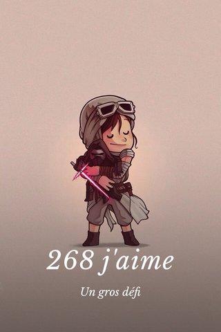 268 j'aime Un gros défi