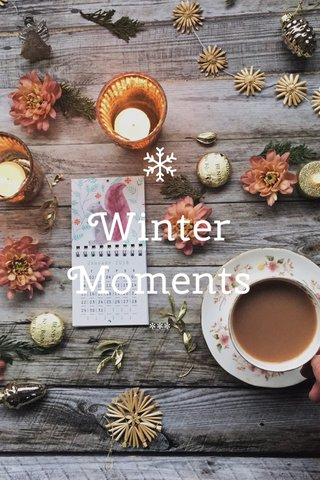 Winter Moments ***