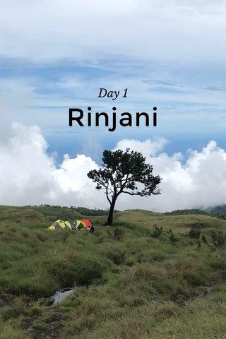 Rinjani Day 1