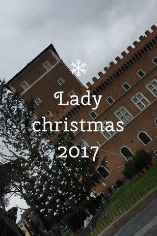 Lady christmas 2017