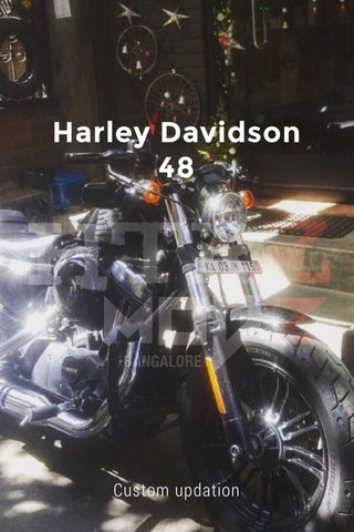 Harley Davidson 48 Custom updation