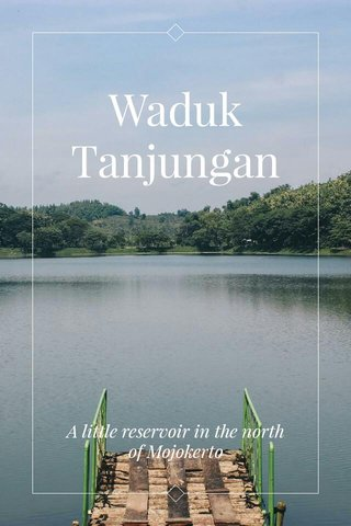 Waduk Tanjungan A little reservoir in the north of Mojokerto