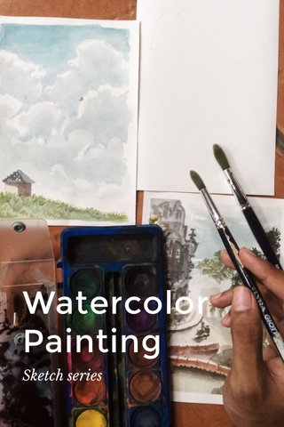 Watercolor Painting Sketch series