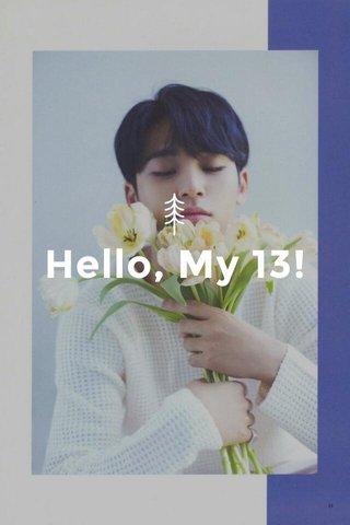 Hello, My 13!