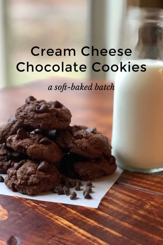 Cream Cheese Chocolate Cookies a soft-baked batch