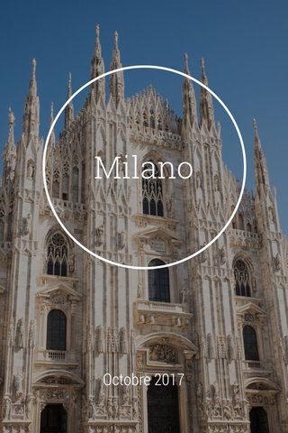 Milano Octobre 2017