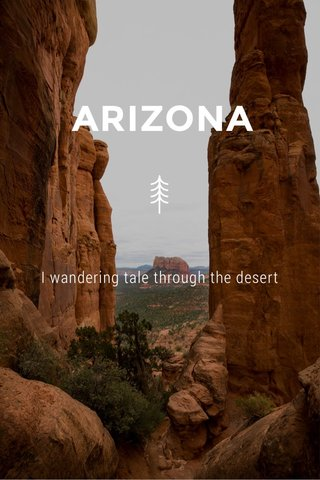 ARIZONA I wandering tale through the desert