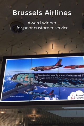 Brussels Airlines Award winner for poor customer service