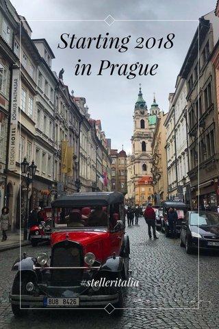 Starting 2018 in Prague #stelleritalia