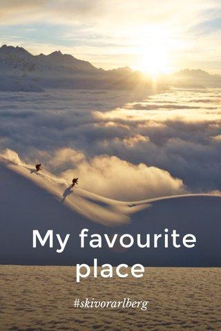 My favourite place #skivorarlberg