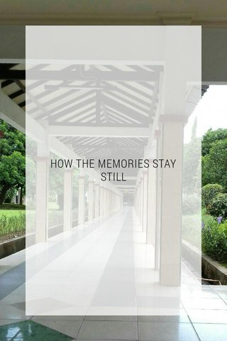 HOW THE MEMORIES STAY STILL