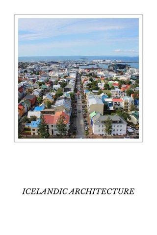ICELANDIC ARCHITECTURE