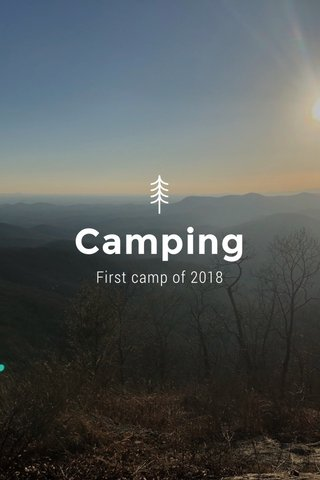 Camping First camp of 2018