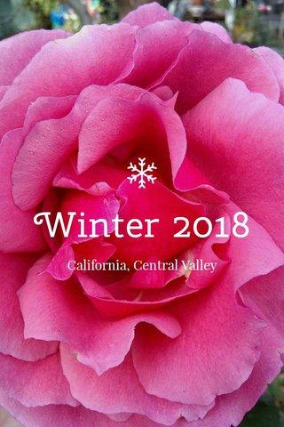 Winter 2018 California, Central Valley