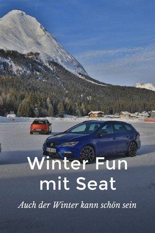 Winter Fun mit Seat Auch der Winter kann schön sein