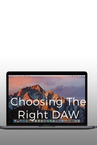 Choosing The Right DAW