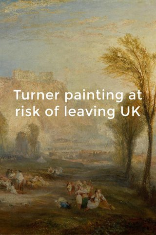 Turner painting at risk of leaving UK