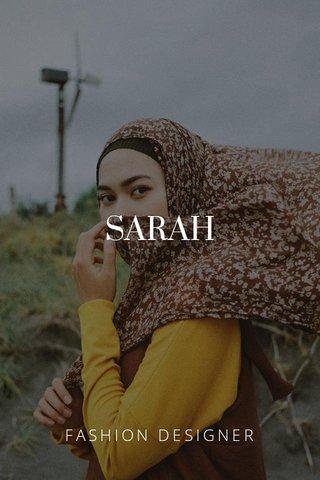 SARAH FASHION DESIGNER