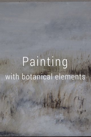 Painting with botanical elements
