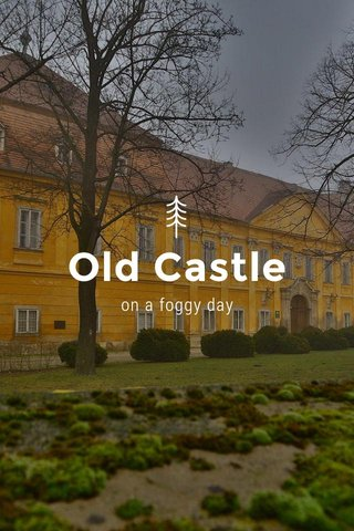 Old Castle on a foggy day