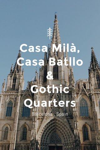 Casa Milà, Casa Batllo & Gothic Quarters Barcelona , Spain