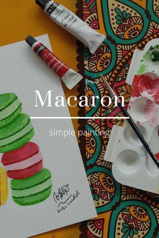 Macaron simple painting