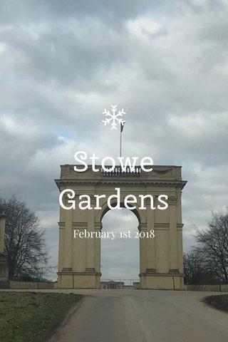 Stowe Gardens February 1st 2018