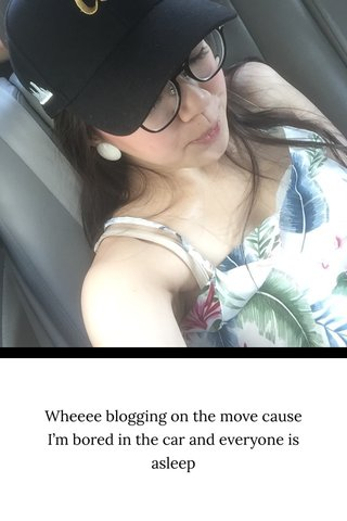 Wheeee blogging on the move cause I'm bored in the car and everyone is asleep