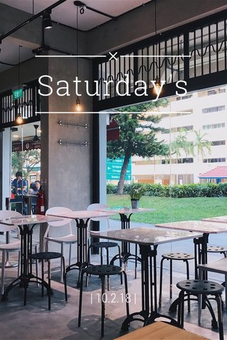Saturday's   10.2.18  