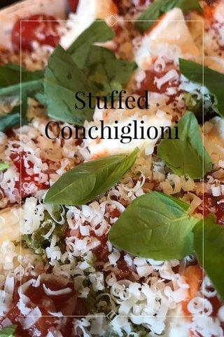 Stuffed Conchiglioni