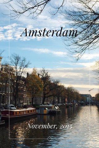 Amsterdam November, 2015