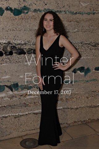 Winter Formal December 17, 2017