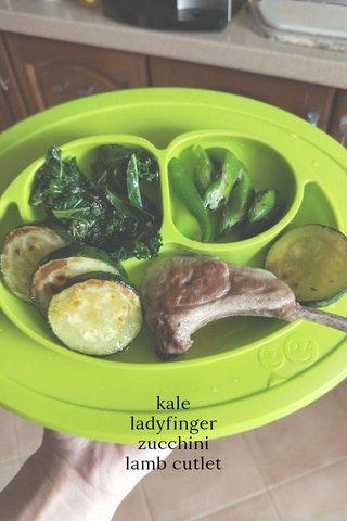 kale ladyfinger zucchini lamb cutlet
