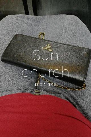 Sun church 11.02.2018