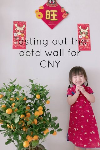 Testing out the ootd wall for CNY