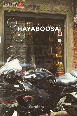 HAYABOOSA Suzuki gxsr