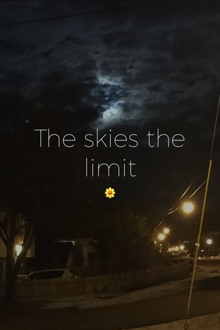 The skies the limit 🌼
